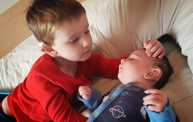 My boys 'special ears'. Cochlear Implants and Hearing Aids